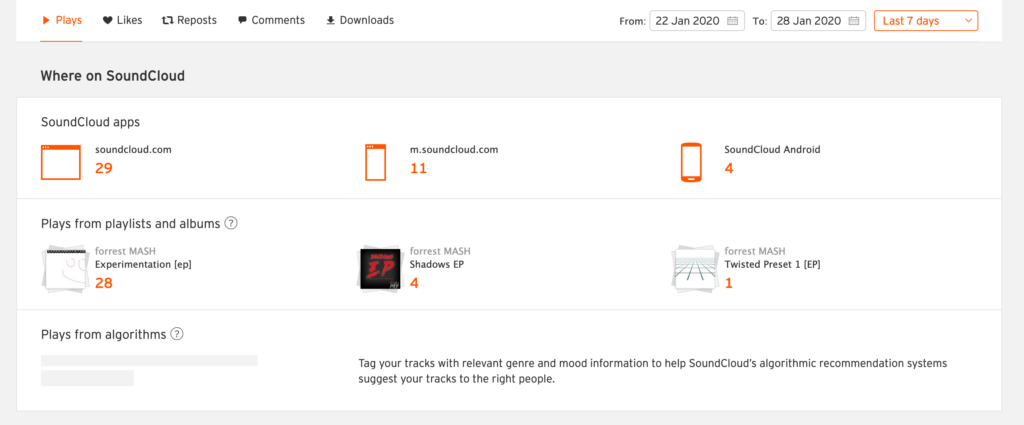 SoundCloud Pro Unlimited Statistics User Interface [part 3]